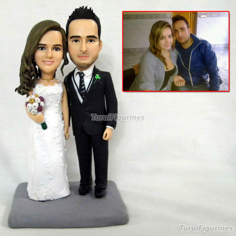 wedding decoration cake topper polymer clay doll baby
