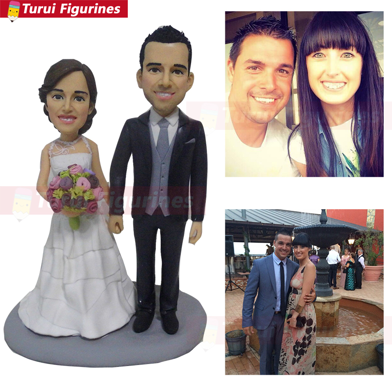 Wedding Cake Topper Statue ustom Bride Groom face gift