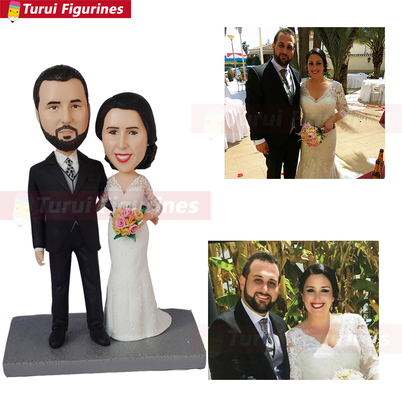 wedding cake topper from bride groom photo picture