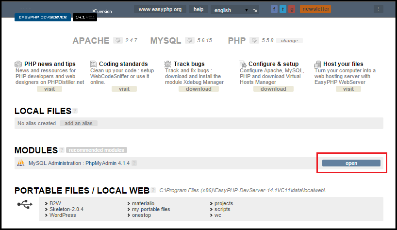How To Easily Install WordPress On Your Local Machine- EasyPHP config