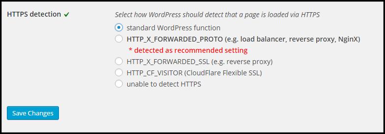 Fix SSL Mixed Content Warning WordPress-Plugin Options