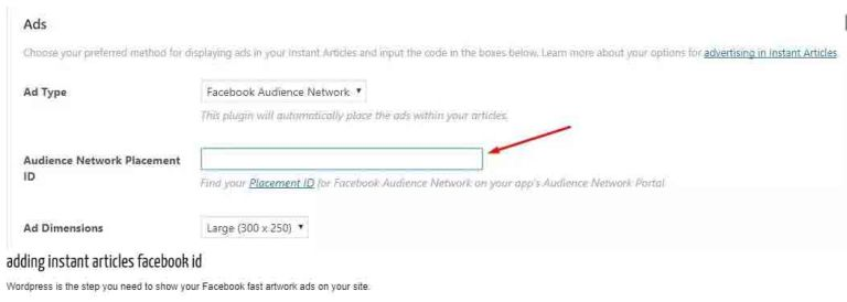 how to setup Audience Network Placement ID