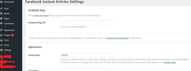 how to setup fb instant article wp plugin on wordpress
