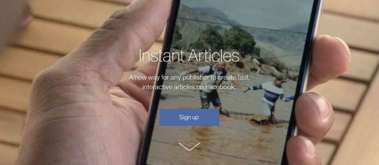 Facebook Instant Articles Account Creation
