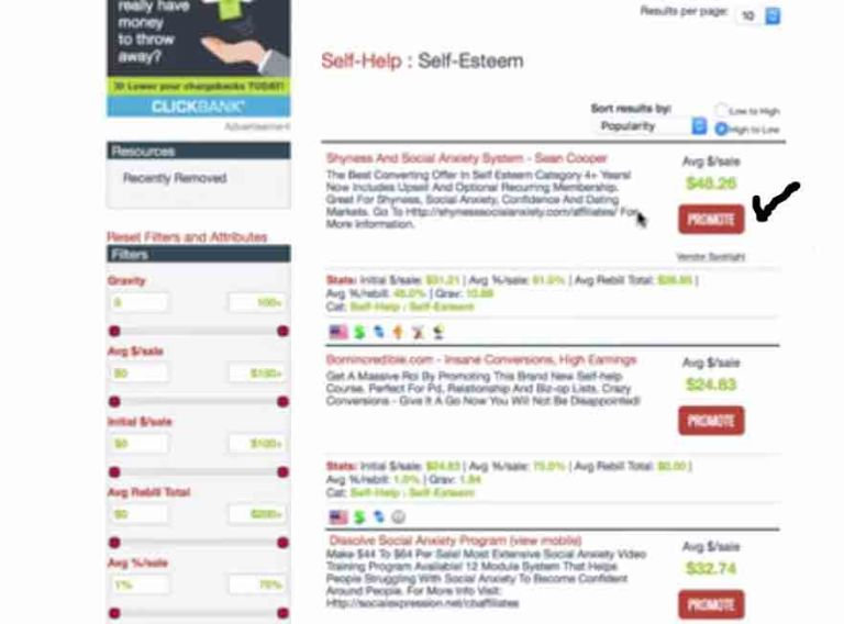 how to find best selling product on click bank