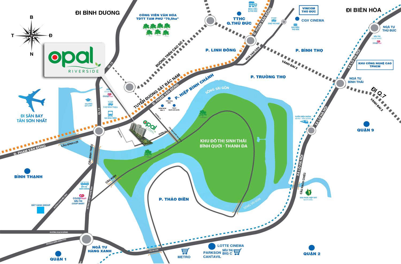 Vị trí dự án Opal Riverside