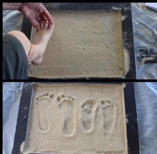 Kumdan ayak izlerinizi eğlenceli bir şekilde saklayın