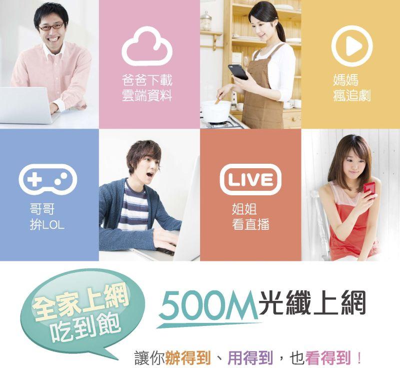 新竹振道網路|凱擘大寬頻:500M