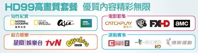 新唐城第四台:HD99高畫質套餐