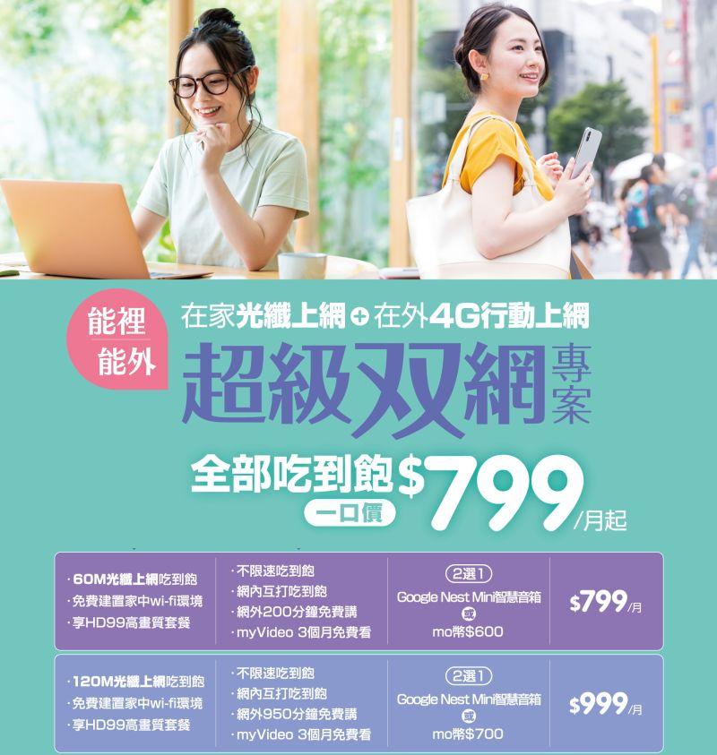 凱擘大寬頻+台灣大哥大雙網吃到飽