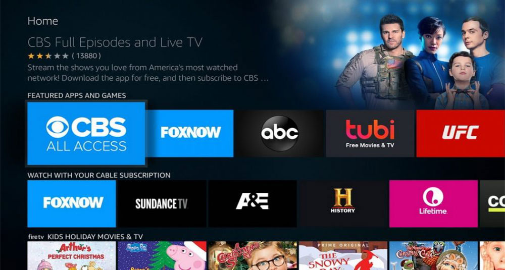 الواجهة وتجربة الاستخدام Fire tv box