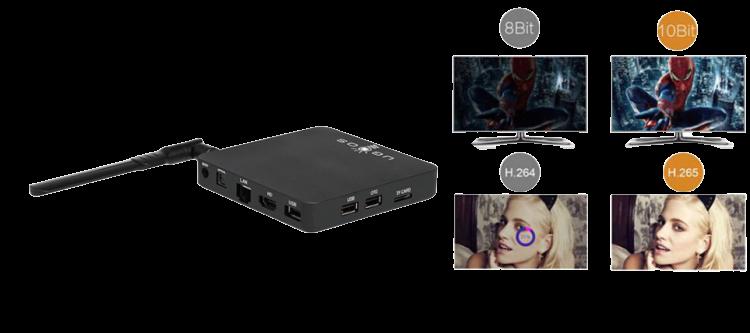 جهاز UGOOS AM6 تيفي بوكس نظام أندرويد 9.0