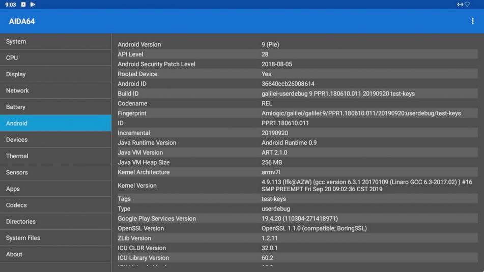نظام التشغيل أندرويد على جهاز Beelink GT King Pro 3