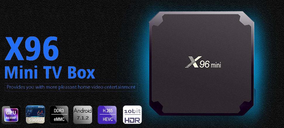 جهاز Mini X96 تي في بوكس نظام أندرويد 7.1