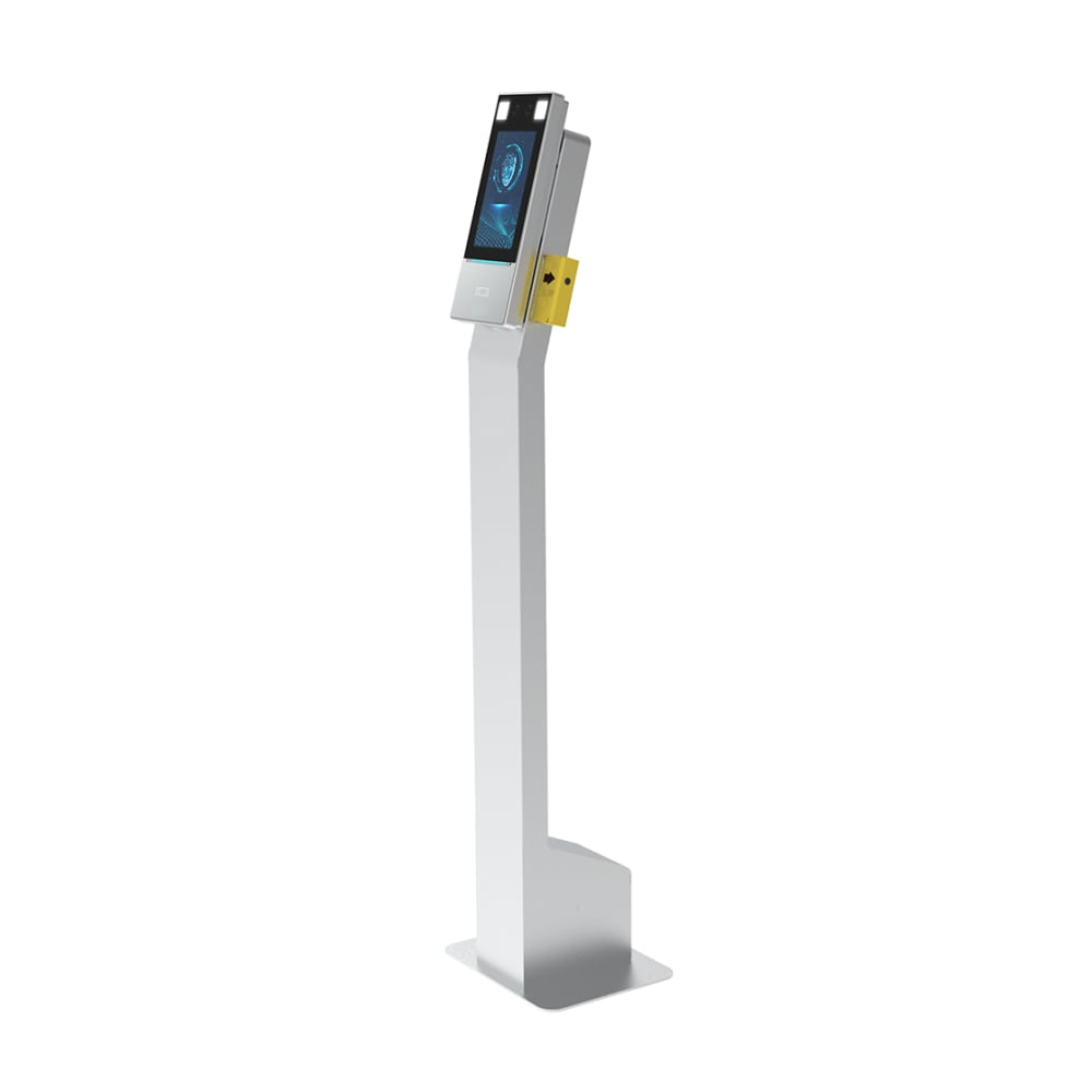 Uniview Face Recognition and Wrist Temperature Terminal with Floor Stand