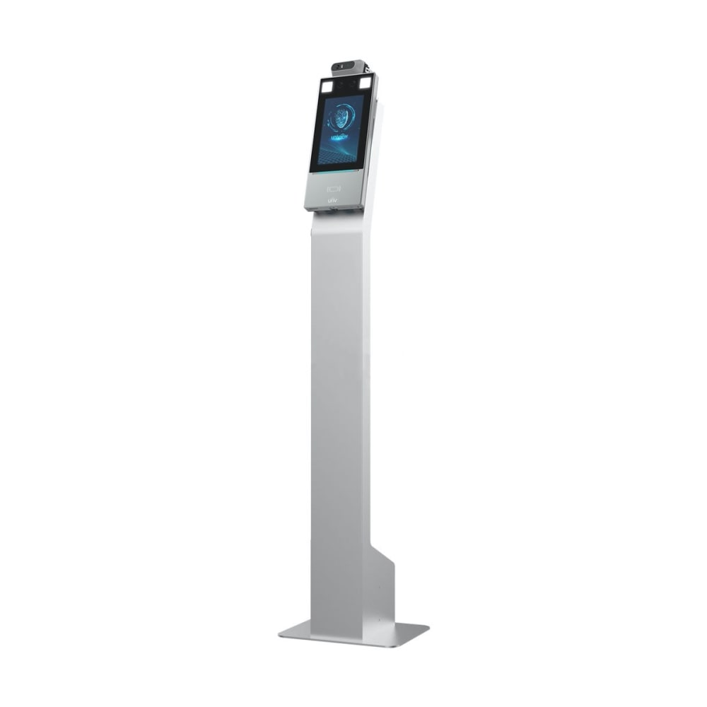 Uniview Face Recognition and Forehead Temperature Terminal with Floor Stand