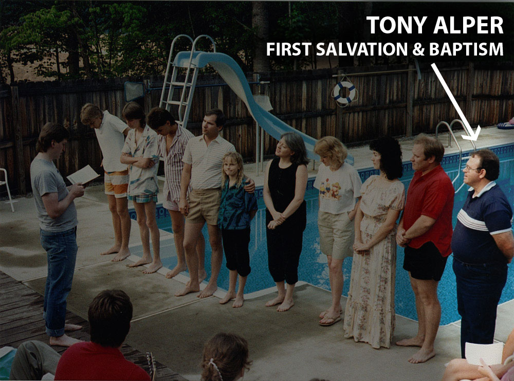 1st Salvation & Baptism – Tony Alper