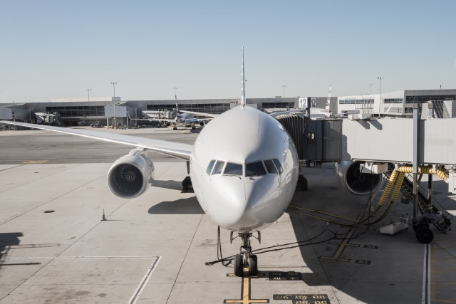 airplane at airport ready for boarding