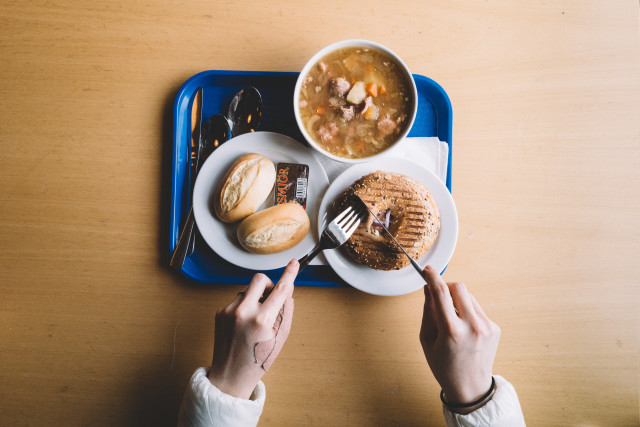 Soup , breads and salmon bagel for your breakfast