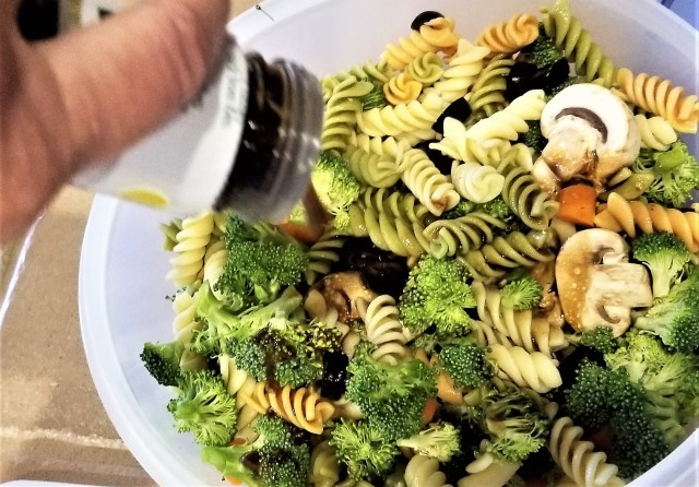 October is National Pasta Month and October 17th is National Pasta Day. Pasta lovers celebrate! Pasta is a type of noodle of traditional Italian cuisine, with the first reference dating to 1154 in Sicily and first attested in English in 1874. Typically, it is made from unleavened dough of durum wheat flour that is mixed with water or eggs and formed into sheets or various shapes. Rotini becomes a pasta salad adding vinaigrette dressing for taste!