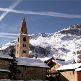 The town Church, Val d'Isere, France