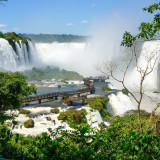 The breathtaking Iguazu Falls in Brazil.