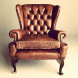Chesterfield Armchair on white.
