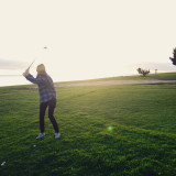 Golfing in Malibu with the Sunset