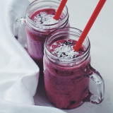 Cherry, banana and coconut smoothie