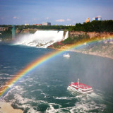 Maid of the Mist, Niagara Falls, with rainbow