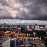 Take with iPhone 4s from lt. 22 Garden Palace Hotel Surabaya Indonesia