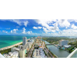 looking over south beach miami from my fontainebleau hotel room balcony