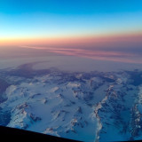 Cockpit view of Greenland on a B787 Dreamliner