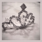 Black and white shadowed tiara clip, a princess crown for a wanna be queen