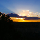 Sunset over the Grand Canyon in Arizona, America.