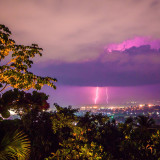 Lightning over Port-au-Prince Haiti
