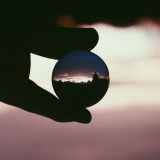 Perspective Is Everything, Crystal ball sunset shot.