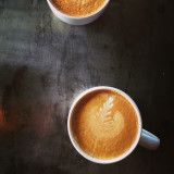 Lattes from above - the pearl cup, Dallas