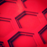 Hexagonal shapes carved in plastic