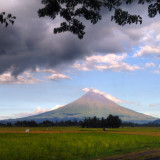 The majestic Mayon Volcano in Albay, the Philippines