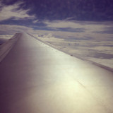 Airplane wing clouds