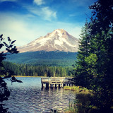 Mount Hood overlooking Trillium Lake