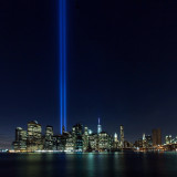 Tribute in Light from Brooklyn Bridge Park