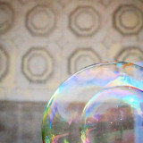 bubbles by central parks bandshell in nyc