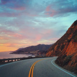 Traveling north on California route 1 through Big Sur.