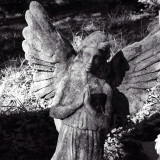 Angel watching over our loved ones in a peaceful cemetery