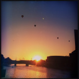 Hot air balloons over the yarra