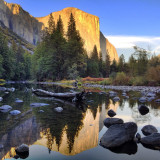 El Capitan and Merced River at Yosemite National Park.
