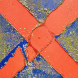 Old red X on formely blue background.