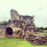 #castle #wales #ruin #ruins #green #grass #sky #architecture #building